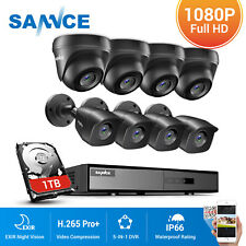 SANNCE 1080P Lite 8CH DVR 2MP Security Camera System Outdoor EXIR Night Vision