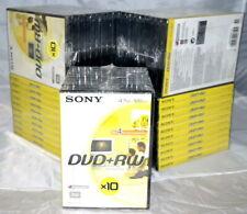 Sony 50 DVD+RW 4X DVD vierge CD 4.7GB NEUF