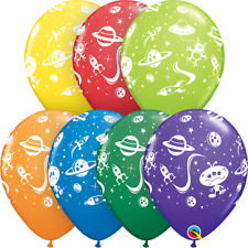 25 Aliens Space Birthday Party Latex Balloons Party Helium/Air Qualatex 31470