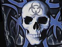 Sapphire Lounge SS Club Shirt Men's L Skull Toxic Symbol Tattoo