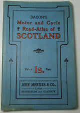 Approx 1905 old antique Bacon's motor and cycle road-atlas of Scotland
