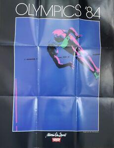 "VINTAGE 1984 OLYMPICS POSTER~Los Angeles Pole Vault Levi's 22x28"" Original Rare~"