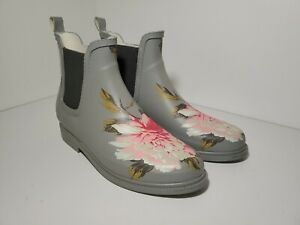 Floral Gardening Boots Low Size 7 Flowers Pretty - Ships FAST
