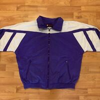 Vintage Wilson Purple/White FULL ZIP 90s WINDBREAKER JACKET - MEDIUM