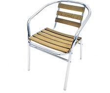 YE-11 Ash Garden Chairs - Ash Bistro Chairs - Ash Aluminium Patio Chairs