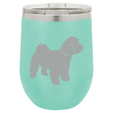 Stemless Wine Tumbler Coffee Travel Mug Glass Insulated Maltipoo