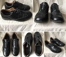 DS GENUINE CHEVIGNON LEATHER  BLACK  SHOES CHAUSSURES SIZE 41