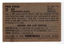 PETE PIHOS 1952 BOWMAN SMALL #92 FOOTBALL CARD PHILADELPHIA EAGLES