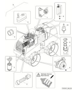 Bomag BMP8500 OEM Service Kit 77072011