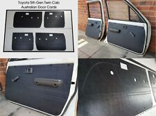Toyota Hilux 1988-1997 Ute Twin Cab ABS Door Trim Panels Rugged Waterproof Black