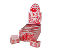 1 6 12 24 RIPS REGULAR RED CIGARETTE PAPERS ROLL ROLLS FULL BOX GENUINE