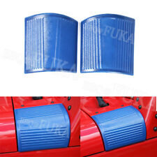 ABS Car Hood Angle Wrap Cover Cornerite Protector For Jeep Wrangler 07-2016 Blue