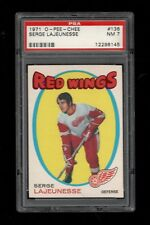 1970-71 O-Pee-Chee Hockey #136 Serge Lajeunesse Red Wings ROOKIE CARD PSA NM 7!!
