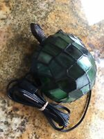 Tiffany-style Stained Glass Turtle Tortoise decorative night or accent light.