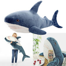 40 inch Shark Soft Toys Stuffed Animals Plush Large Teeth BlÃ…Haj Kids Gifts