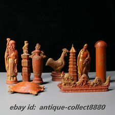 Chinese Cinnabar Ink HuiMo HuKaiWen Inkstick Ink Block(Zodiac/Kwan-yin/Buddha)