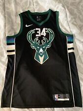 Nike Giannis Antetokounmpo Black Milwaukee Bucks City Jersey Size Large