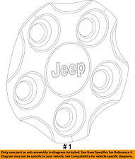 Jeep CHRYSLER OEM 17-18 Compass Wheels-Center Cap Hub Cover 5VL55RXFAA