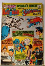 Giant World's Finest Comics #188 Oct-Nov 1969 Superman Batman Negative Superman