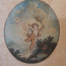 Gravure XVIII ème, La Folie Par Janinet, d'Après Fragonard, Ange, Angelot, Datée