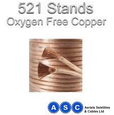 10m Altavoz Cable libre de oxígeno Ofc 5mm 521 Strand estudio profesional de grado