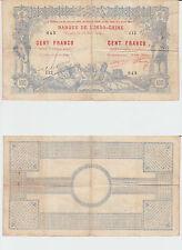 Banque de L' Indochine Nouvelle-Calédonie Nouméa 100 Francs  10 Mars 1914 RARE