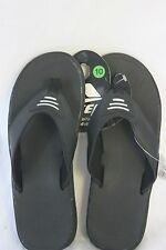 ECSA Sandals Black With black & White T Strap Straps NEW SZ 12