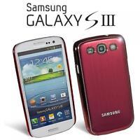Handy Tasche Case Hülle Samsung I9300 Galaxy S3 SIII S 3 Rot Oberschale Alu Etui
