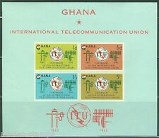 GHANA  IMPERFORATED SOUVENIR SHEET ITU  SCOTT#207a  MINT NEVER HINGED