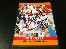 Mark Carrier Buccaneers 1990 Pro Set Signed Auto Card
