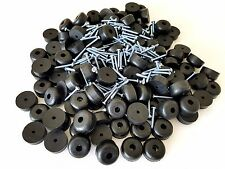 "Set of 25 Guitar Speaker Rubber Feet 1"" Dia X 1/2"" Ht + screws,washer built-in"