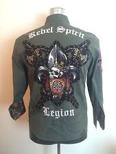 Rebel Spirit Legion - A Royal Way Of Life - Men's Button Down Shirt - Size Small