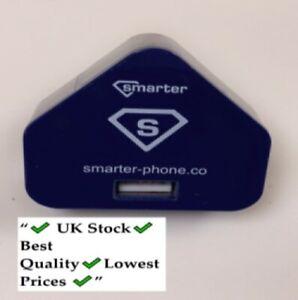 UK Mains Travel Wall 3 Pin USB Plug Power Adaptor Charger For Mobile Smart Phone