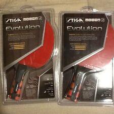 New - 2 Stiga Evolution Ping Pong Paddle Table Tennis Pair