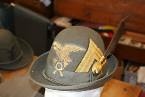 AL30: Sammlungsauflösung Schirmmütze Italien Alpini Hut Offizier Oberstleutnant