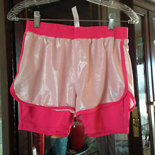 Triple Flip Kids Shorts with Built In Tights Two Tone Pink Size 5