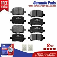 For Toyota Camry Avalon, Toyota Solara Front and Rear Ceramic Brake Pads Set