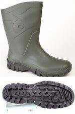 Unisex Dunlop Dee Wide Calf 1/2 Length Wellington Short Ankle BOOTS Ladies UK 11 / EU 44 Green PVC