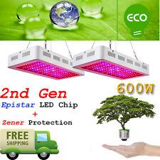 2PCS 2nd GEN Monster 600W Led Grow Lights Full Spectrum Lamp Panel Plant Light
