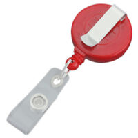5x Retractable Reel Recoil ID Badge Lanyard Tag Key Card Holder Belt Clip O I0S1