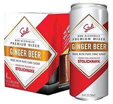 Stolichnaya Stoli Ginger Beer Moscow Mule Non-alcoholic Beverage 4pack 250ml