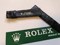 vintage authentic rolex black genuine crocodile 20 mm strap 🇨🇭
