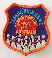 Australia League High Game TenPin Bowling Patch Badge Vintage Ten Pin (P1)
