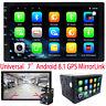 "7"" Autoradio Android Kamera Universal 2 DIN GPS NAVI BT WIFI USB RDS MAP Touch"