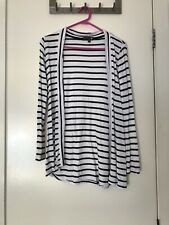 Long Cardigan, Blacked And White Stripped Open Jumper AUS/UK XS, US 2, EU 34,