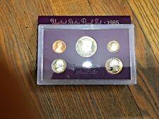 1985 S Proof Set Original Box 5 Coins US Mint W/ BOX