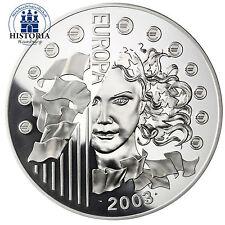 Frankreich 50 Euro 2003 PP 1 Kg Silbermünze Europa Serie:  1. Jahrestag des Euro