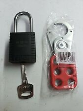 Brady LOCK OUT NYLON PADLOCK AND MASTER HASP - lock out  tag out safety