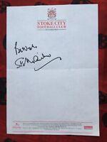 Autogramm SIR STANLEY MATTHEWS-auf offiziellem STOKE CITY-Briefpapier-verstorben