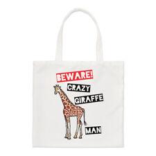 Méfiez-vous fou girafe homme PETIT SAC FOURRE-TOUT - Drôle courses épaule animal